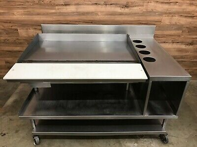 Vulcan 948r Flat Griddle Natural Gas On Equipment Stand Storage Bin Casters