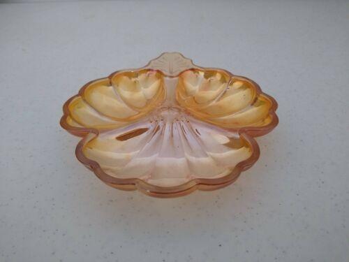 Vintage Depression Glass Divided Dish