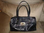 Authentic DKNY Croc Leather Satchel handbag Thomastown Whittlesea Area Preview