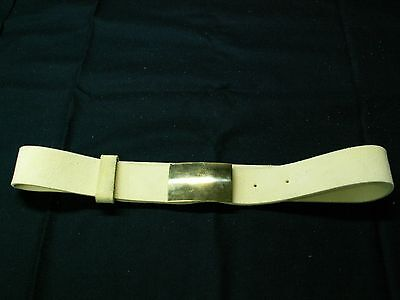 Marine Belt and Buckle , made from buff leather