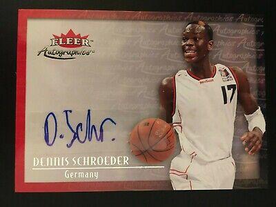 2013-14 Fleer Retro 2000-01 Autographics Rookie RC Dennis Schröder (LESEN)
