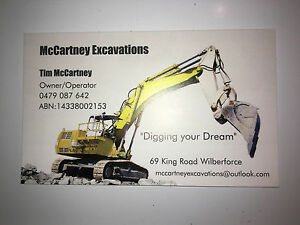 Mccartney excavations McGraths Hill Hawkesbury Area Preview