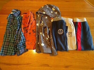 Lot of Fall Winter Boys Clothing Sizes 6-7 Pants Shirt Button Down Hoodie