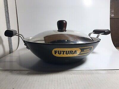 """Futura 12"""" Hard-Anodized Wok & Lid  30cm 4.06mm Unused"""