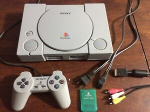 PlayStation 1 with Final Fantasy 7
