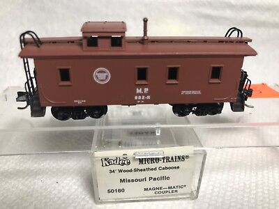 *** Micro Trains # 50160 Woodside  MoPac Missouri Pacific Caboose   ***