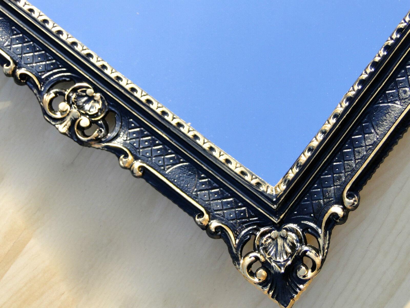 wandspiegel barock gro er spiegel schwarz gold hochglanz. Black Bedroom Furniture Sets. Home Design Ideas
