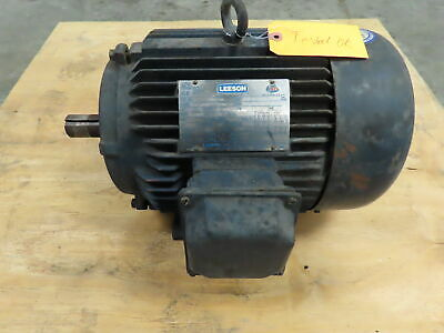 Leeson G150157.60 Electric Motor 7.5hp 1760rpm 230460v 1-38shaft 213t Frame
