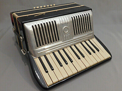 Vintage CAMERANO Piano Accordion Made In Italy with Hard Case VG/G cond