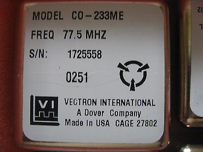 Vectron Crystal Oscillator 77.5 Mhz Mpn Co-233me-77.5mhz