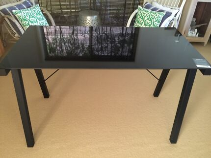 Black glass topped new desk Cronulla Sutherland Area Preview