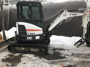 "2017 Bobcat E26 Excavator ""low hours"""