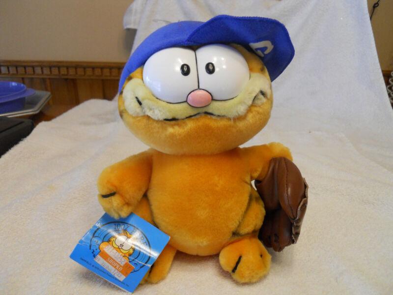 New Vintage 1978 Dakin Plush Garfield Baseball with tag