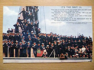 WW1-Military-Navy-Bamforth-Song-Postcard-Its-The-Navy-3-no-4887-3