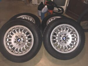 Like New BMW Winter tries with rims 205/60R15