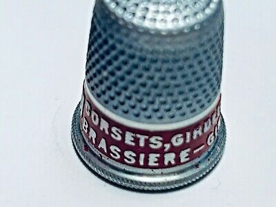 Vintage Henderson Corsets Girdles Brassiere Advertising Aluminum Thimble