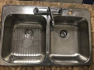 Kitchen sink and laundry tub