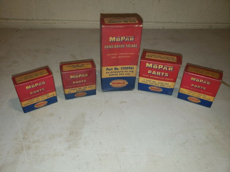5 Original Mopar Advertising Boxes ~ Original Parts Included ~ Never Opened