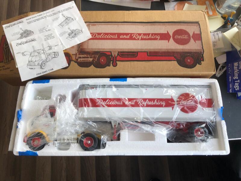 1997 Ertl Coca Cola GMC Tractor Trailer 1/25 Diecast Semi Truck NIB