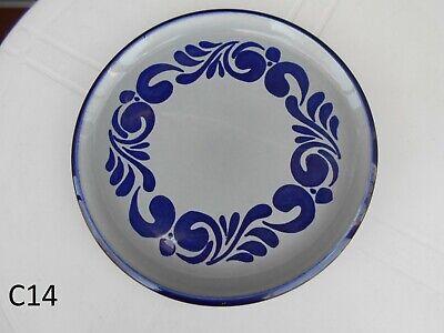 Magnifique Plat Assiette  Bleu Cobalt Boch Frères La Louvière