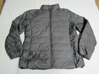 UNIQLO Gray Womens Size L Ultra Light Packable Down Puffer Jacket EXCELLENT  J78