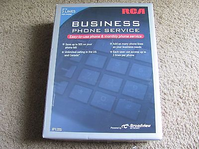 Brand New RCA IP120S 3-Line Business Telephone System & Service