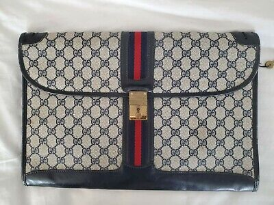 RARE VINTAGE GUCCI 1970's Portfolio Document Holder Notebook GREAT CONDITION