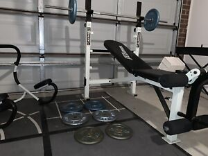 60kg with Adjustable bench press