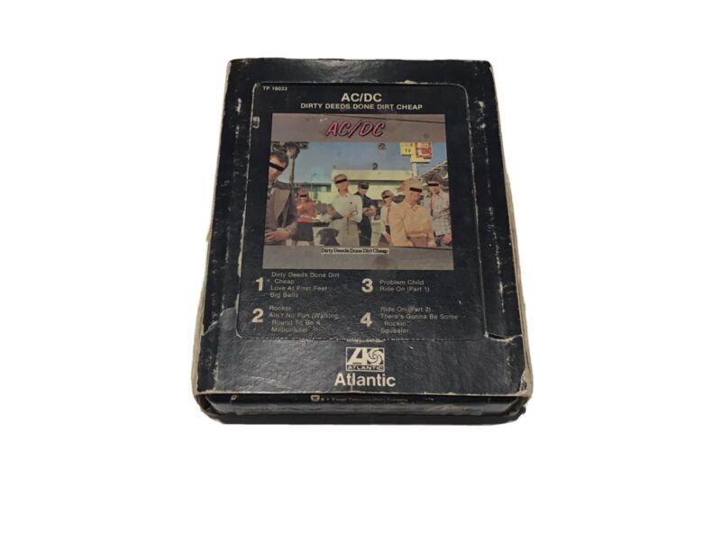 Vintage AC/DC 8 Track, Dirty Deeds Done Dirt Cheap, Atlantic