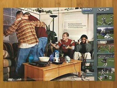 NFL 2K2 PS2 Xbox Dreamcast Vintage Print Ad/Poster Official Football Art Funny!