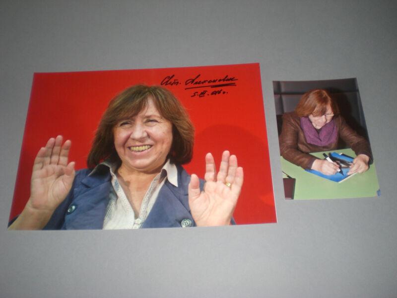 Svetlana Alexievich Alexijewitsch Nobel Prize signed  Autogramm 8x11 photo IP