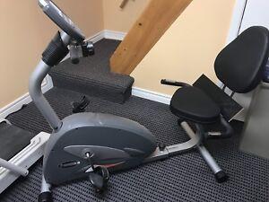 Stationary exercise bike, recumbent, hardly used
