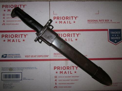 Vintage WWII US Army M1 Garand bayonet w/ scabbard made by UFH !!!