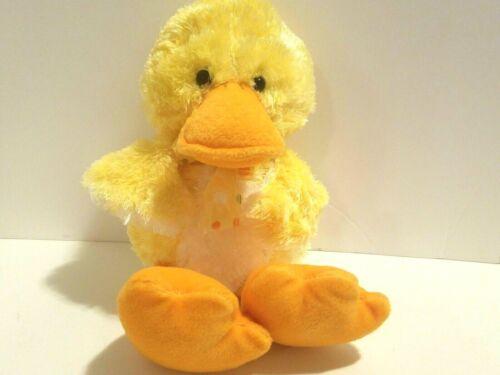 Russ Berrie Sunflower Plush Duck Yellow Chick Polka Dot Bow Spring Stuffed Toy