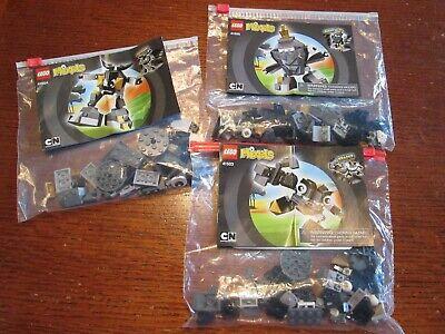 LEGO Mixels Black Series 1 Lot SHUFF 41505 KRADER 41503 SEISMO 41504 Rare