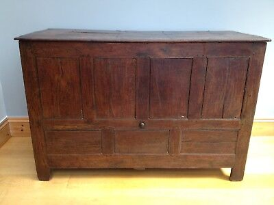 Antique Oak Mule Chest Coffer Blanket Box 18th Century Georgian Old English