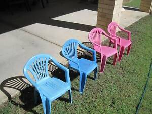 Kid's Plastic Chairs / Child's Plastic Chairs - Blue & Pink Brassall Ipswich City Preview