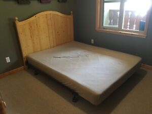 Queen Size Boxspring and frame