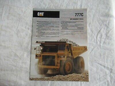 1992 Cat Caterpillar 777c Off-highway Truck Brochure