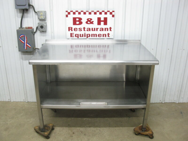 """48"""" Stainless Steel Heavy Duty Kitchen Cabinet Work Table 4"""