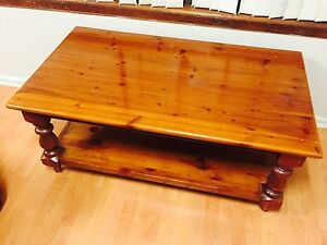 Free delivery - Coffee table with bottom shelf / magazine holder Liverpool Area Preview