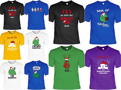 Weihnachtsshirt - T-Shirt lustiges Motiv Advent - Weihnachtsmann Kostüm Sprüche