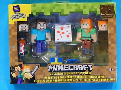 Minecraft Celebration Hero 2 Pack Figures New Sealed 2019