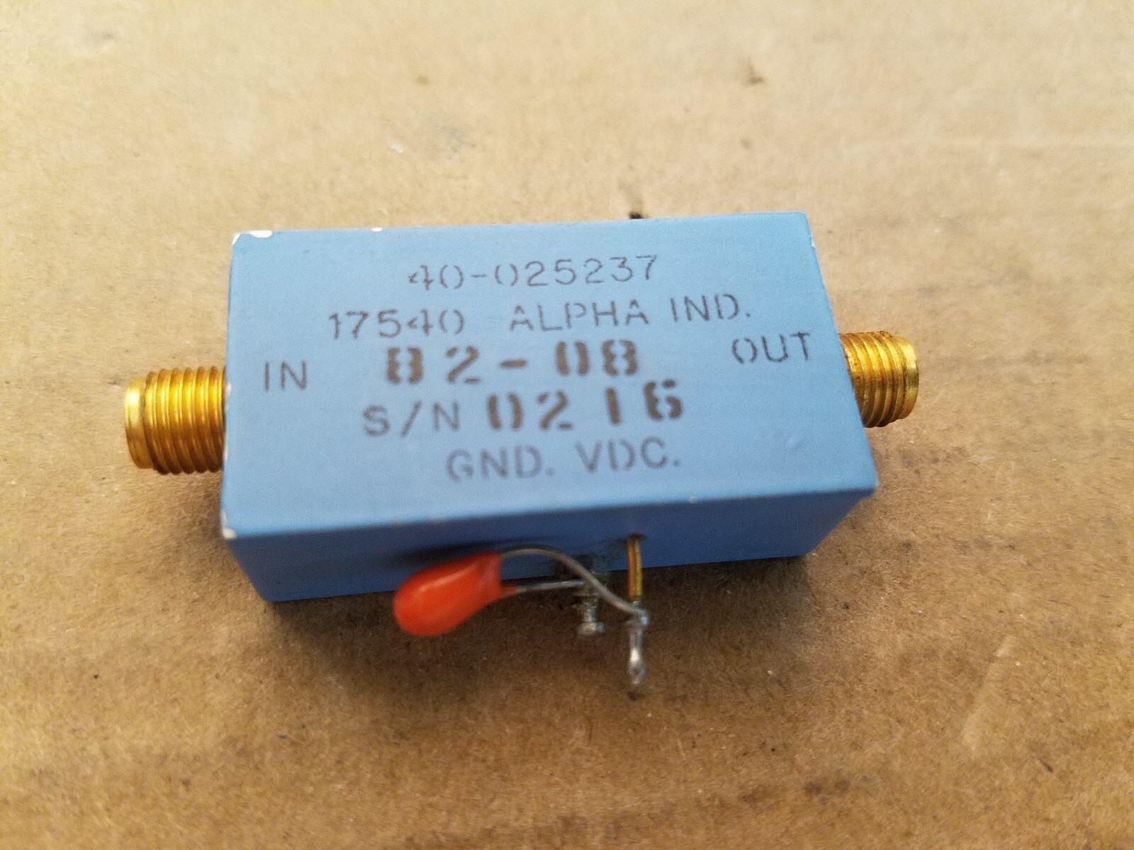 Alpha Industries 40-025237 RF Mikrowelle Verstärker 4.7-7.5GHz -12V SMA(F) #