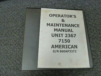 American Hoist 7150 Lattice Boom Truck Crane Owner Operator Maintenance Manual