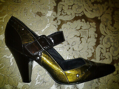 Great Gatsby Women's Shoes (Bronze Gold Art Deco 1920s Style Great Gatsby Vintage Flapper Mary Jane)