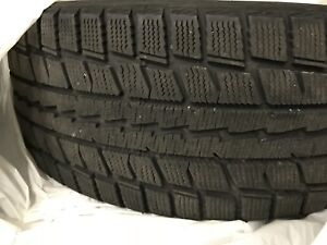 Dunlop winter tires 225/55R17 + mags