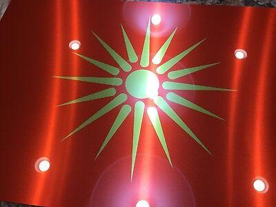 Ancient Macedonia Alexander The Great Symbol Flag Hi Definition  Metal Sign