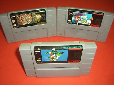 Super Mario World, Mario Paint & Sim City in VERY GOOD COND for SNES! AUTHENTIC! ()