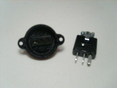 Cinch Jones 3 Pin Connector Pairset Beau Power Plug Pg-303-cct Sg-303-rp